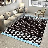 Ommda tappeti Salotto Soggiorno Moderni Home 3D Geometric Printing tappeti Soggiorno Pelo Corto Antiscivolo Lavabili Multicolore 40x60cm 9mm