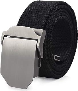 VBIGER Cinturón Lona Nylon Ocasional para Hombre,125cm