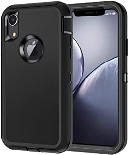 I-HONVA for iPhone XR Case Shockproof Dust/Drop Proof 3-Layer Full Body Protection [Without Screen Protector] Rugged Heavy...