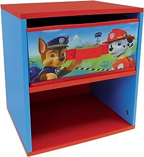 Fun House Fun HOUSE-712533-PAT Patrouille-Chevet avec tiroir pour Enfant, Bois MDF/Intissé, Bleu, 33x30x36 cm