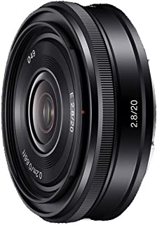 Sony SEL20F28 - Objetivo para Sony E-Mount (Distancia Focal Fija 30mm Apertura f/2.8 tamaño de Filtro: 20 mm) Negro