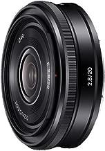 Sony SEL20F28 E Mount - APS-C 20mm F2.8 Wide Angle Prime Lens, Black