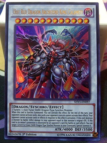 Yugioh Hot Red Dragon Archfiend King Calamity SHVI-EN097 Ultra Rare 1st Edition by Yu-Gi-Oh!