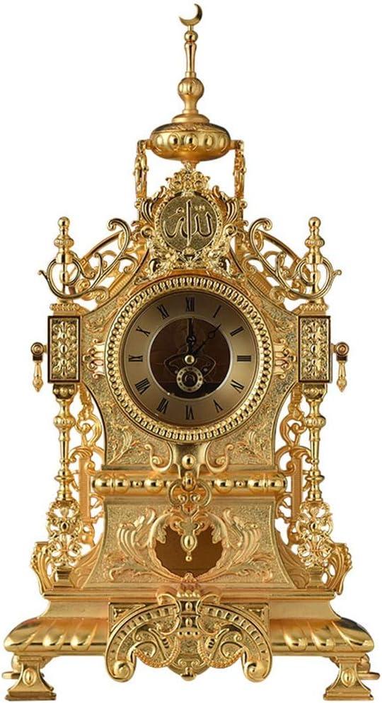 XHRHao Mantel Mesa Mall Clock Arlington Mall Roman Numeral See-Through Copp Movement Dial