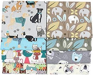 8 piezas de 40 cm x 50 cm de tela de algodón para patchwork acolchar almohadas