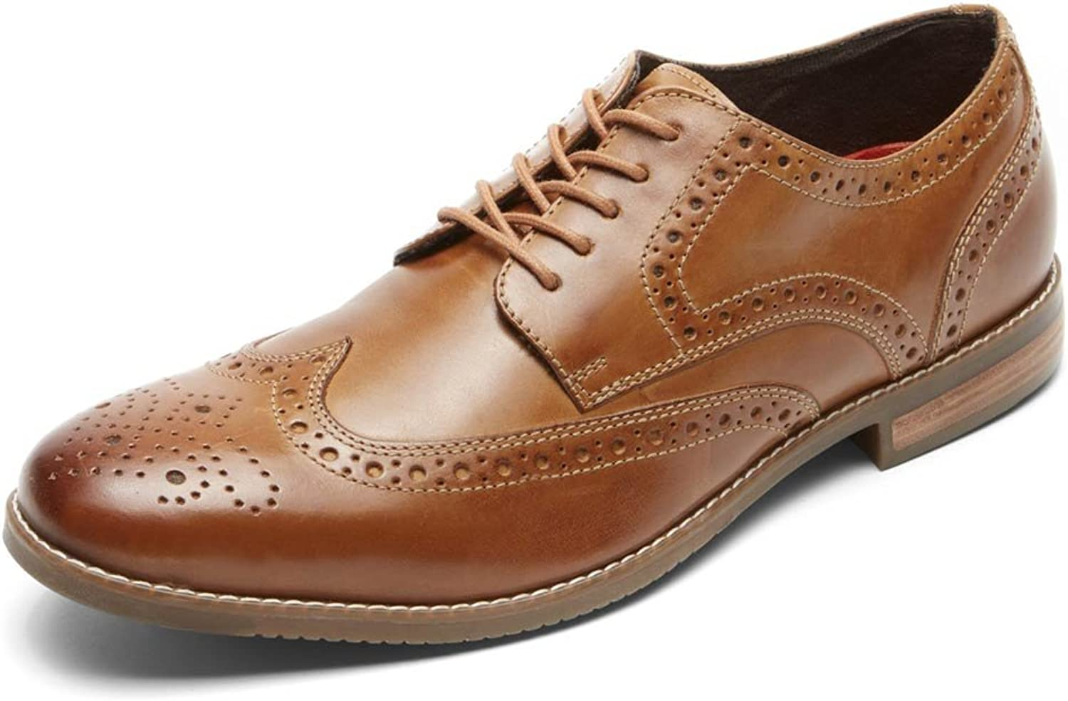 Rockport Men's Symon Wingtip shoes, 8.5 D(M) US, Cognac