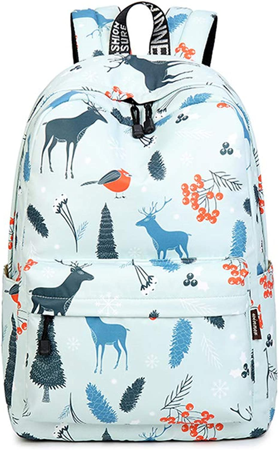 HLJ Creative Simple Outdoor Travel Backpack Personality Fashion Women Backpack Casual Backpack