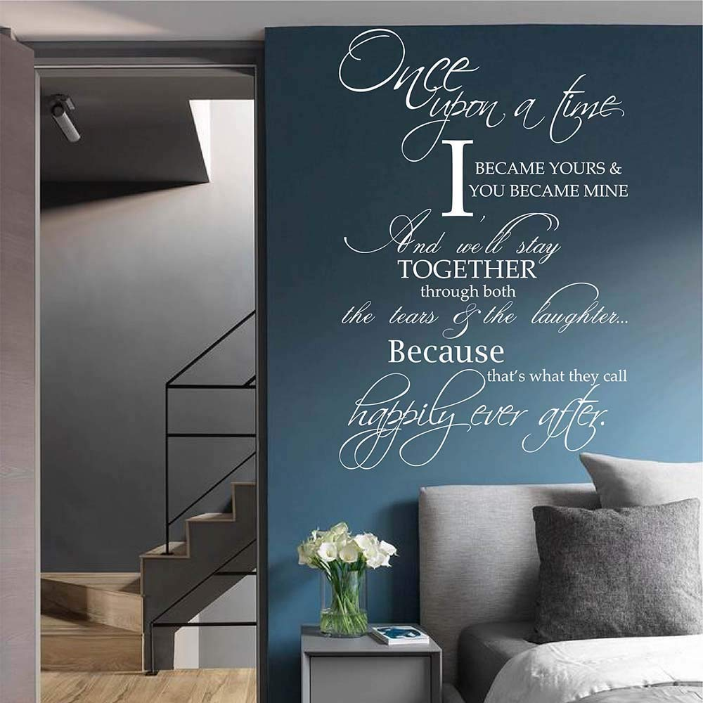 Teisyouhu Vinyl Wall Decal Sticker Once Upon A Time I Became Yours You Became Mine Wall Quotes For Livingroom Bedroom Love Home Decor Wall Murals Gift Ideas Buy Online In Aruba At