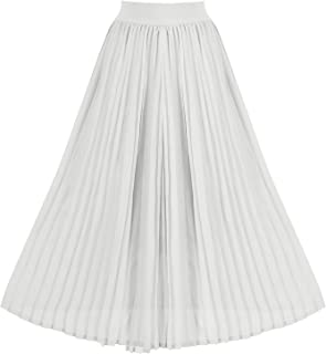 Best white accordion skirt Reviews