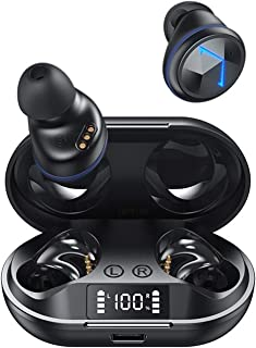 Headphones Wireless Bluetooth 5.0 Smart Noise Reduction Sports Waterproof Music Earplugs (Color : A)