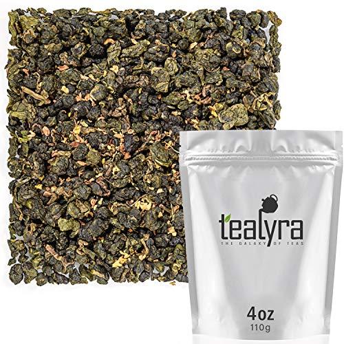 Tealyra - Osmanthus Gui Hua Oolong - Taiwanese Oolong Loose Leafe Tea - Sweet and Aromatic Taste - Organically Produced - 110g (4-ounce)