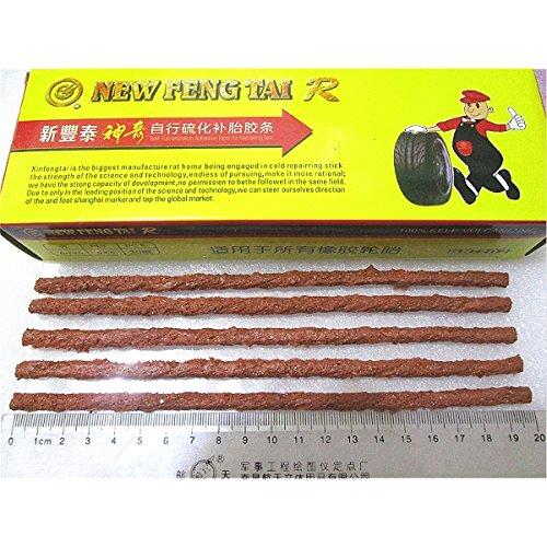 alamor 30Stück 20cm Motorrad Tubeless Reifen Reparatur Gummi Streifen reifenraparatur