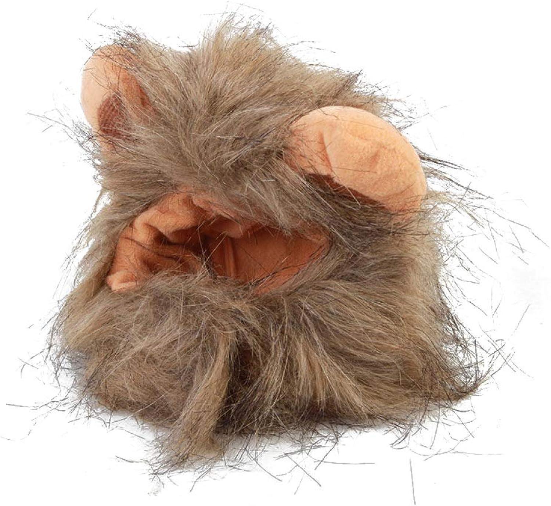 Cat Wig Ear Pet Clothing Lion