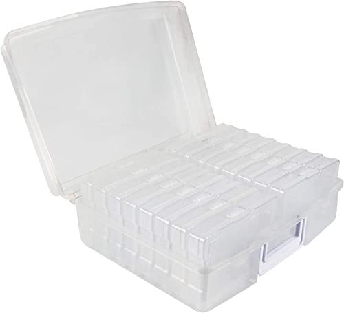 "novelinks Photo Case 4"" x 6"" Photo Box Storage - 16 Inner Photo Keeper Photo Organizer Cases Photos Storage Container..."