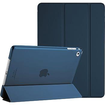 """ProCase iPad Air 2(2014発売)ケース スマート 超スリム スタンド フォリオ保護ケース 半透明フロスト バックカバー 対応端末:Apple iPad Air 9.7"""" 第2世代(A1566 A1567)-ネービー"""