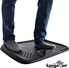 Kangaroo Original Premium Anti-Fatigue Active Comfort Mat, Varied Terrain Acupressure Massage, Ergonomic Floor Mats, Kitchen, Home, Work, Office, Stand Up Desk, Long Periods of Standing, Black