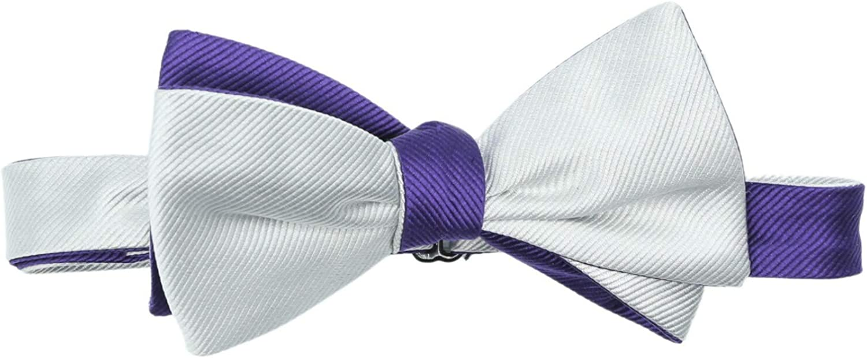 Edward Armah Men's Silk Ribbed Hook Bow Tie