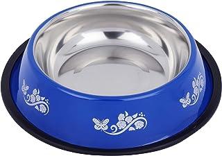 Naaz Dog Regular Anti Skid Dog Food Bowl (Extra Large) Blue Printed Bowl 1500ML