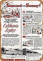 1954西太平洋カリフォルニアゼファーコレクティブルウォールアート