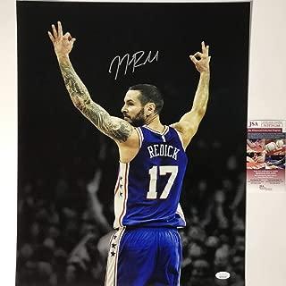 Autographed/Signed JJ J.J. Redick Philadelphia 76ers Sixers 16x20 Basketball Photo JSA COA