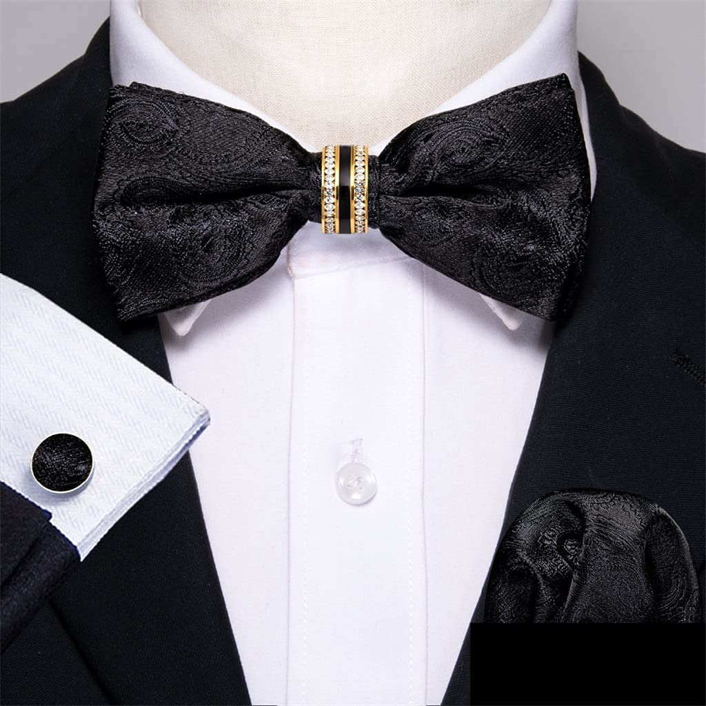 ZLBYB Black Indianapolis Mall Popular Silk Bow Tie for Adjustable B Men Accessorie Wedding