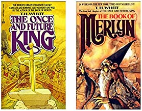 The Once and Future King plus The Book of Merlin T.H. White 2-paperback bundle