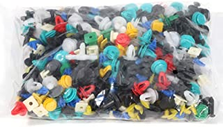 ROADFAR 500Pcs Car Fasteners Push Type Fender Rivet Clips Automotive Nylon Clips