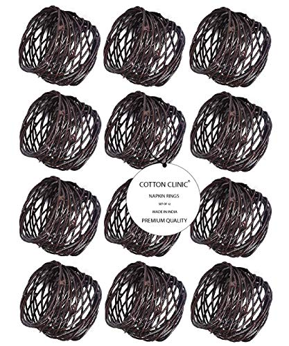 Baumwolle-Klinik Serviettenringe Metall 12 Stück Kupfer serviettenringe für hochzeit, weihnachten, täglicher Gebrauch, Abendessen, Tischgesellschaft Dekor
