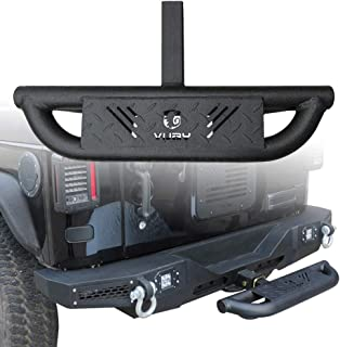 Vijay Rear Bumper | Hitch Step | 3 Texture Black with Pin Lock Universal Stabilizer Connection Step | for Models with 2