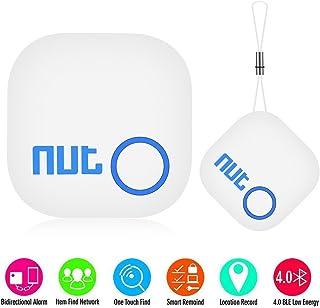 ◇NUT2 キーファインダー スマートタグ bluetoothトラッカー キ物発見器 忘れ物 紛失 盗難 防止 タグ スマートタグ Bluetooth通信 1タッチ探し 音声提示 電池交換対応 ホ用 Bluetooth4.0 Android/iPhone - ホワイト