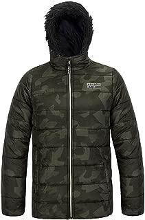 Boys Active Puffer Jacket Winter Camo Coat Zip Up Fleece Lined Thicken Warm Outerwear with Hood