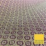 Luxus lila geometrisches Ornamentmuster Brokatstoff –