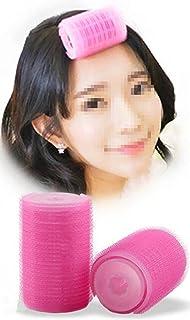 2Pcs/Set Plastic Hair Rollers Curlers Bangs Self-Adhesive Hair Volume Hair Curling Styling Tools Magic Women DIY Makeup To...