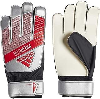 adidas Adult Predator Training Soccer Goalkeeper Gloves , Silver Metallic/Black  , 9