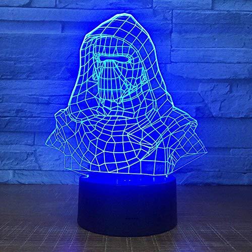 3D-Illusionslampe LED-Nachtlicht Darth Vader Helm USB...