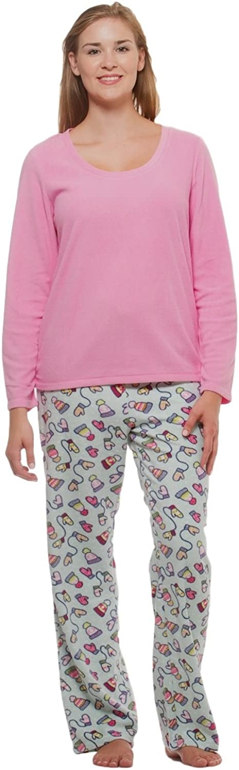Women's Winter Fleece Lounge Pajama SetMittensXL