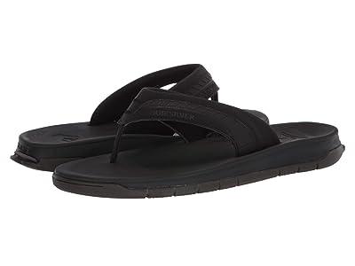 Quiksilver Coastal Excursion Travel Sandals (Black/Black/Brown) Men