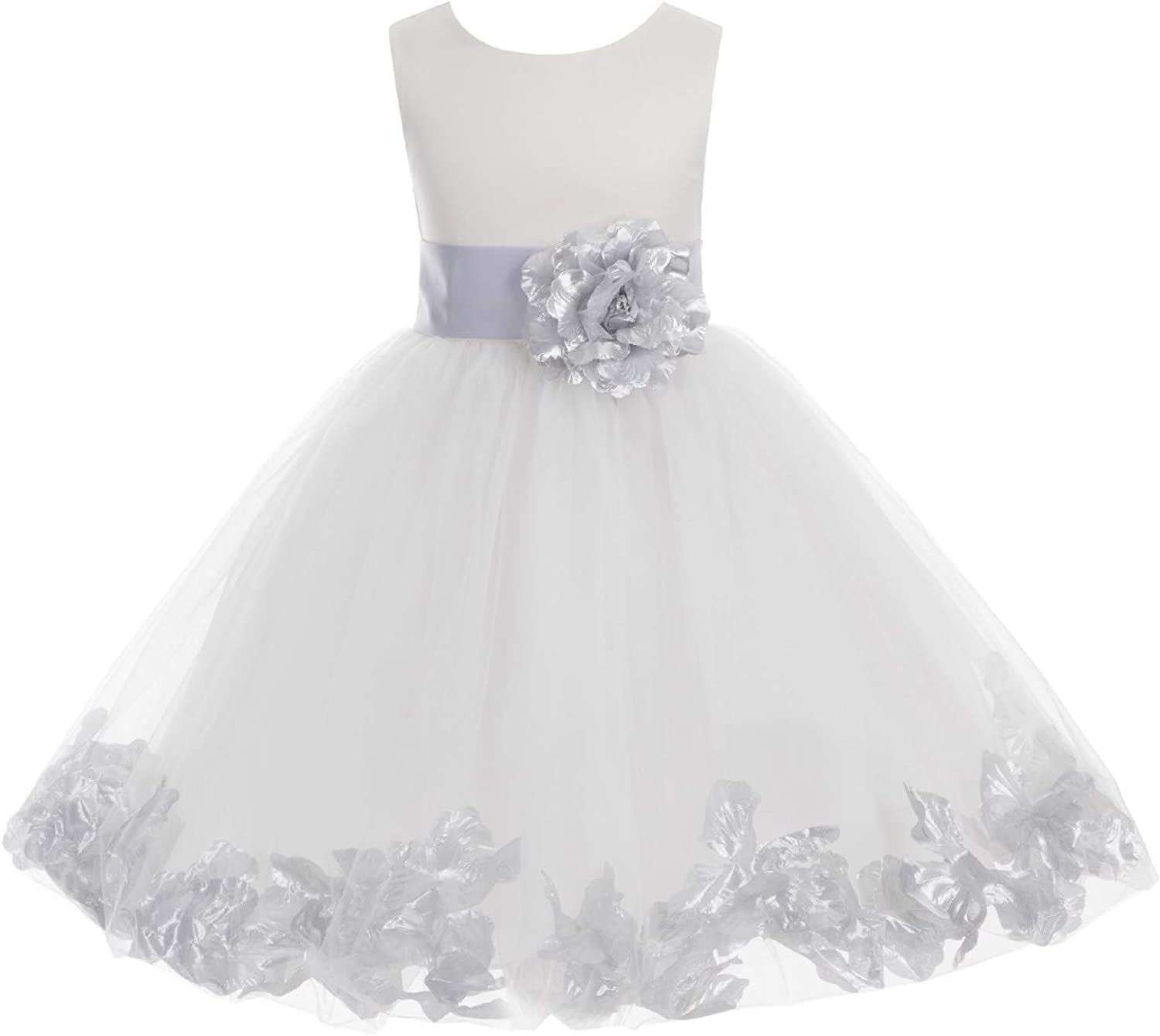 Ivory Flower Girl Dress Red Teal Blue Wisteria Apple Green Blush Pink 814T
