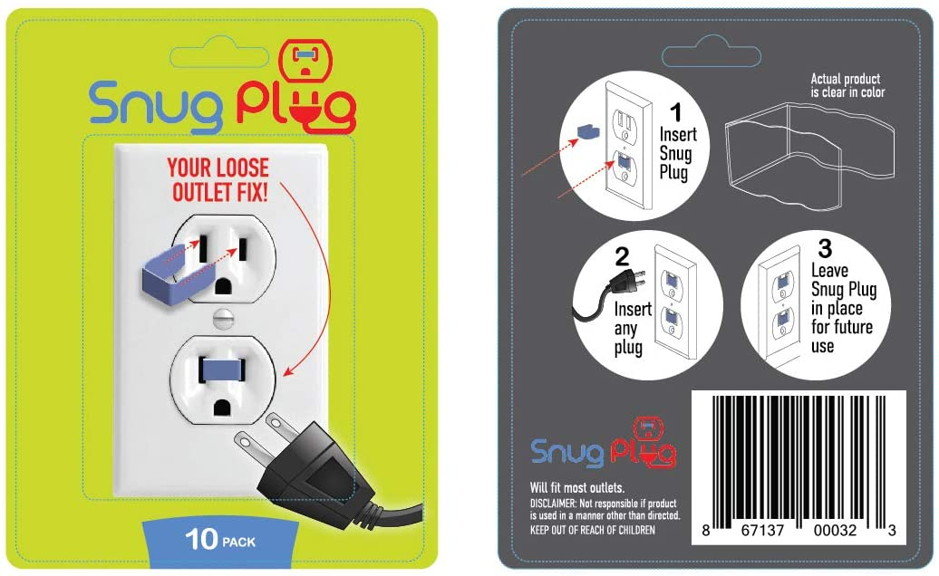 Snug Bombing new work Plug - Your Loose Outlet Pack In a popularity Clear 10 Fix
