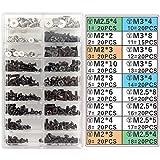 Akuoly Juego de Tornillos para Ordenador portátil Universal y Disco Duro M.2 SSD, M2 M3 M2.5, 355 piezas