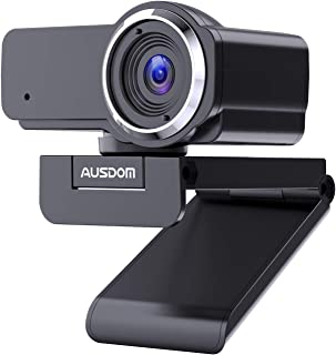 AUSDOM Webcam 1080P Full HD con Micrófono Enfoque Manual USB Cámara P Gran Angular para Video Chat/Grabación en Youtube/Skype Compatible con Windows 7/8/10 / XP/Chrome/Mac OS