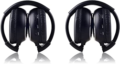 LeaningTech 2 Pack of IR Wireless Two-Channel Foldable Headphone, Two Channel Folding..