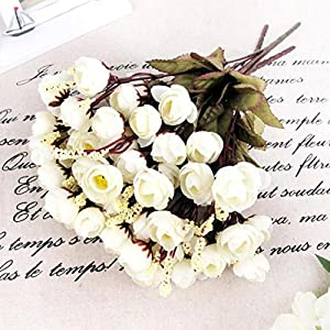 Silk Flower Arrangements Finance Plan Home Artificial Rose Silk Flowers 18 Flower Heads Camellia Peony Bouquet Decor Milk White