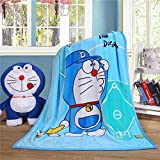 WINGSIGHT Cartoon Throw Blanket Hello Kitty Adults & Baby Cozy Plush Fleece Coral Velvet Fuzzy Blanket for Bedroom Bed,Couch Chair,Living Room,Air Conditioning Cool Blankets 40'X55' (Blue)