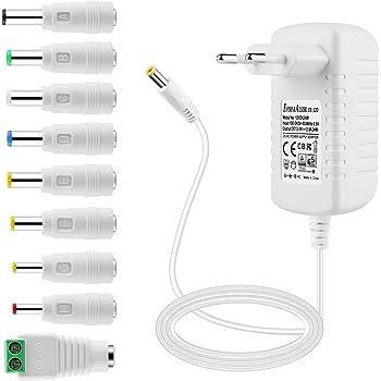 Alimentatore 12V 8A Adattatore AC-DC CCTV Camera DVR//LCD//Monitor//strisce LED
