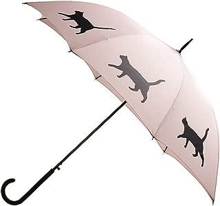 Unisex-Adult (Luggage only) auto Open Stick Umbrella, Warm Taupe/Black