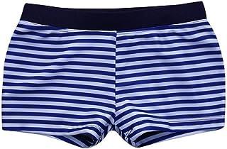 HUYB 子供服 男の子 ストライプ フラットアングル スイミングトランク ショート パンツ