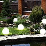 5er Set LED Außen Solar Lampen Kugel Design Erd Spieß Steck Leuchten Garten Weg Beleuchtung