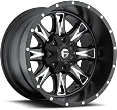Fuel Throttle black Wheel with Painted Finish (20 x 12. inches /8 x 6 inches, -44 mm Offset)