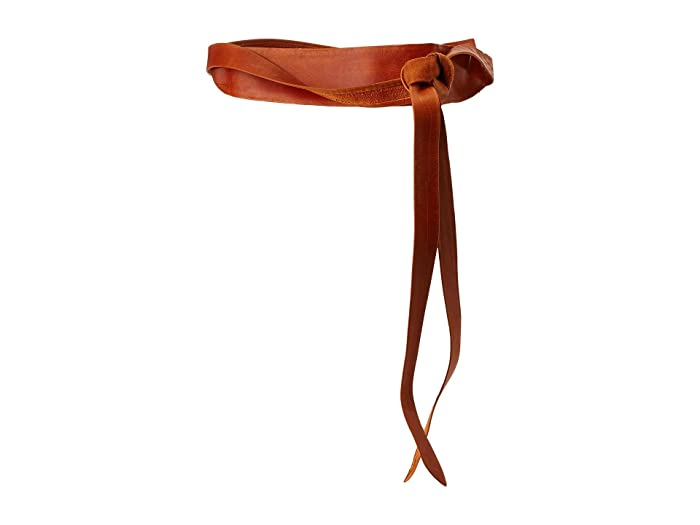 ADA Collection Midi Wrap Belt (Cognac) Women